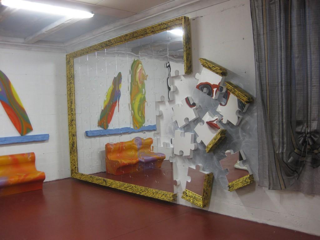 Lavorazioni in polistirolo arredamento interni parete puzzle a specchio in polistirolo - Cornici a specchio ...